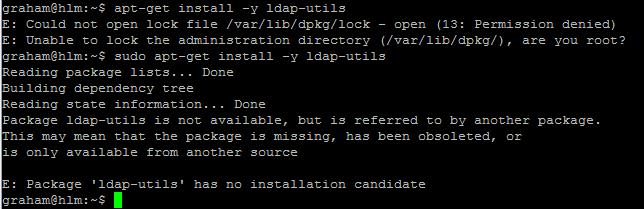 1. missing ldap-utils